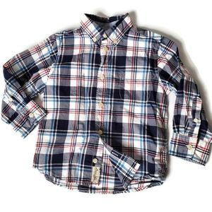 L.O.G.G. H&M Toddler Boys Plaid Button Down Shirt